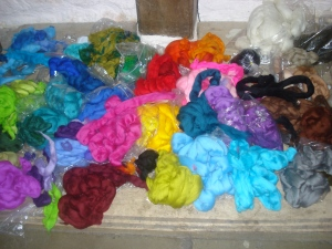 Deborah's fibres for feltmaking - really, how could you NOT want to create something?!